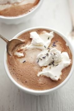 How to Make Lavender Hot Chocolate ~ this is one of the BEST hot chocolate I have ever made.  Adjust the lavender to your taste.  Definitely a keeper!