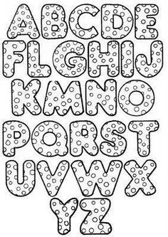 Alphabet letters to use for embroidery or appliqué Hand Lettering Alphabet, Doodle Lettering, Creative Lettering, Calligraphy Alphabet, Caligraphy, Colouring Pages, Coloring Books, Alphabet Templates, Alphabet Stencils