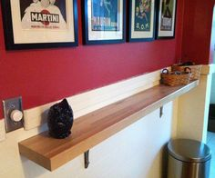 DIY - build it wider to create a floating breakfast bar...just add barstools.