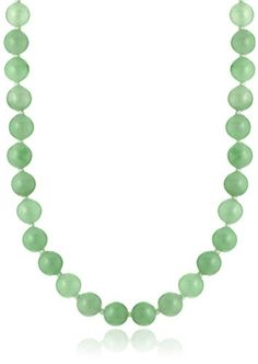 Silver Green Jade Necklace