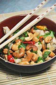 recette thaïe - cuisine thaï - poulet aux noix de cajou Plus