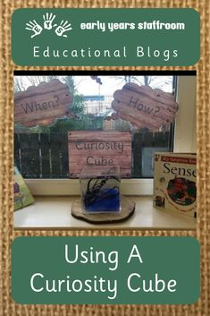 Using A Curiosity Cube – by Miss Grey and Play Reggio Emilia Classroom, Eyfs Classroom, Classroom Setup, Learning Spaces, Learning Environments, Curiosity Approach Eyfs, Early Years Practitioner, Curiosity Box, Eyfs Activities