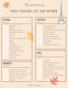 Paris Packing List for Fall | Find out what to pack for Paris in autumn. Click to get a free PDF download!