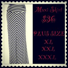 $36 Maxi Skirt www.facebook.com/louschicboutique
