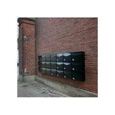 Mefa 111  Letter Postkasse Dybsort  RAL 9005