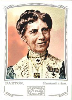 2009 Topps Mayo Silver #144 Clara Barton nurse