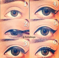 How to winged eyeliner