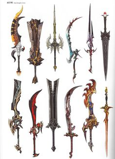 판타지무기모음02 : 네이버 카페 Fantasy Sword, Fantasy Weapons, Fantasy Armor, Sci Fi Weapons, Medieval Weapons, Cool Swords, Sword Design, Weapon Concept Art, Fantasy Characters