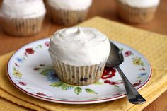 Chocolate Chip Coconut Milk Cupcakes with Coconut Cream Cheese Frosting