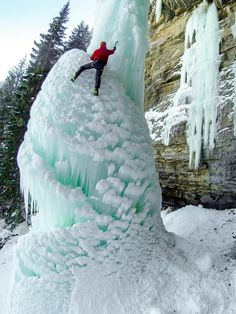 @GoPro Photo of the Day! Dave Tucholke soloing the famous ice climb the Fang in East Vail, Colorado. Shot by @Photo_Zach.