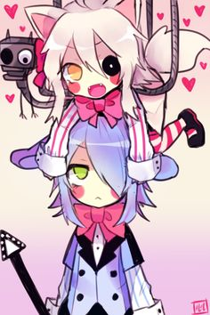 「Mangle and Toy Bonnie!」/「Lulu-999」のイラスト [pixiv]