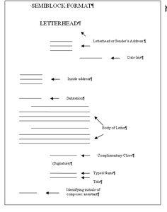 Sample letter sample excuse letter pinterest via business letter format semi block style modified example spiritdancerdesigns Images