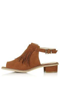 BLINDER Fringe Shoe Boots - Topshop