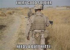 Every good soldier needs - I just know this tiny kitten comforts this brave soldier