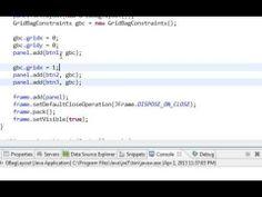 ▶ Java swing GUI tutorial #20: GridBagLayout - YouTube
