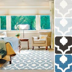 Adil Contemporary Trellis Area Rug-(9'3 x 12'6) - Overstock Shopping - Great Deals on 7x9 - 10x14 Rugs