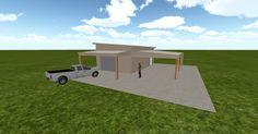 3D #architecture via @themuellerinc http://ift.tt/2gh44cz #barn #workshop #greenhouse #garage #DIY