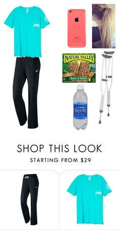 """Just Came Out of Surgery"" by melanie125-1 ❤ liked on Polyvore featuring NIKE"