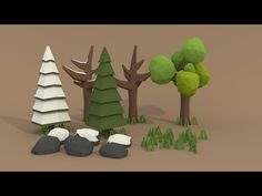 | PigArt | BLENDER Tutorial: Low poly forest assets! - YouTube