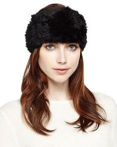Rabbit Fur Headband, Black