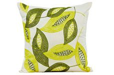 Boscage Embroidered Cushion  This Beautifully embroided cushion brings a bit of nature in to your home. The subtle greens work harmoniously together to bring calm and peace to any room. Cordinate with crsip white and neutral colours.