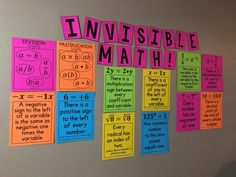 My Math Resources creates engaging & interactive middle school math resources - printable classroom decor, math posters, math puzzles, task cards, and more! Math Posters Middle School, Middle School Classroom, High School, Future Classroom, Flipped Classroom, Math Teacher, Teaching Math, Teaching Ideas, Teacher Stuff