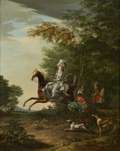 Marie-Antoinette lors d'une chasse à courre