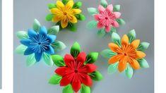 Blumen aus Papier. Notizzettel. Origami. DIY