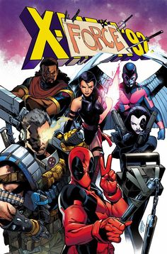 X-Men '92 - Cable, Deadpool, Domino, Psylocke, Archangel,a and Bishop by Pepe Larraz *
