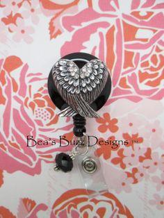 LOVE WINGS  Retractable Id Badge ReelDesigner by BeasBuzzDesigns, $20.00