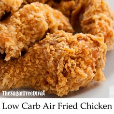 The best tasting Low Carb Air Fried Chicken Recipe - Air Frying Low Carb Flour, Low Carb Pizza, Low Carb Bread, Air Fry Recipes, Low Carb Recipes, Cooking Recipes, Ketogenic Recipes, Potato Recipes, Vegetable Recipes