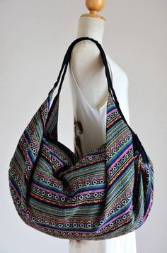 Nepali Fabric Design Hippie Shoulder Bag Gypsy Bag Boho Hobo