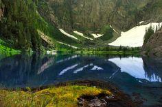 Century Sam Lake: Vancouver Island, British Columbia, Canada. Century Sam Lake and Comox Glacier Trail Ridge