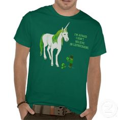 Funny Unicorn/Leprechaun Shirt for St. Patrick's Day! (women/kids shirts too)