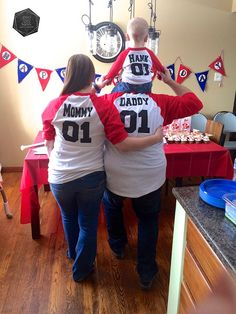 Matching Team shirts for mommy, daddy and baby
