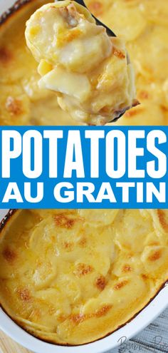 This easy Potatoes Au Gratin Recipe mixes butter, onion, potatoes and cheese into a creamy casserole dish that is the perfect side dish for Easter. Gold Potato Recipes, Potato Recipes Crockpot, Healthy Potato Recipes, Cooking Recipes, Au Gratin Potatoes Crockpot, Crock Pot Potatoes, Recipe For Augratin Potatoes, Instant Pot, Potato Side Dishes