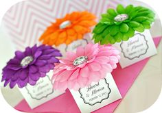Personalized Flower Favor Boxes