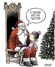 santa claus quotes with pictures - AT Yahoo! Santa Claus Quotes, Santa Quotes, Christmas Jokes, Christmas Cartoons, Christmas Art, Winter Christmas, Social Media Humor, Cartoon Kids, Funny Cartoons