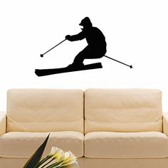 Wall Decal Vinyl Sticker Sport Gym Skier Skiing Decor Sb639 ElegantWallDecals http://www.amazon.com/dp/B012DRQRI6/ref=cm_sw_r_pi_dp_6hkYvb1JK72GT