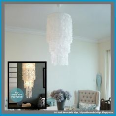 DIY And Household Tips: Make Your Own Faux Capiz Chandelier