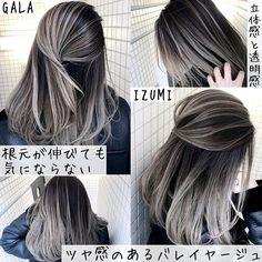 Pin on hair Hair Color And Cut, Ombre Hair Color, Hair Colour Grey, Peekaboo Hair, Ashy Hair, Hair Colour Design, Pelo Vintage, Beautiful Hair Color, Hair Setting