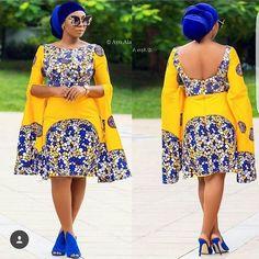 Yellow African print midi dress,african clothing for women,ankara print dress,ankara clothing,africa African Dresses For Women, African Print Fashion, Africa Fashion, African Attire, African Wear, African Fashion Dresses, African Women, African Outfits, Ankara Fashion