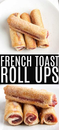 Easy French toast roll ups are a fun twist on traditional french toast. This filled french toast recipe is an easy to make breakfast recipe that the whole family will love! Customize with your favorite fillings for the perfect breakfast! Easy To Make Breakfast, Perfect Breakfast, Breakfast For Kids, Christmas Breakfast, Breakfast Ideas, Breakfast Toast, Breakfast Recipes, Snack Recipes, Breakfast Potatoes