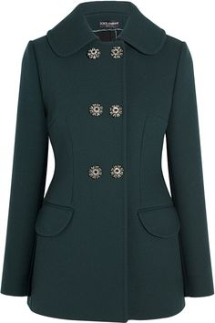 Dolce & Gabbana | Crystal-embellished stretch-wool crepe jacket
