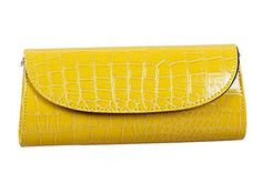 New Trending Clutch Bags: Bundle Monster Womens Envelope Evening Patent Croc Skin Embossed Clutch - YELLOW. Bundle Monster Womens Envelope Evening Patent Croc Skin Embossed Clutch – YELLOW   Special Offer: $12.99      333 Reviews A beautiful evening clutch is the only way to go when you are parting the night away, going to a fancy event or wedding. Our clutch comes in: Mustard Yellow. This...