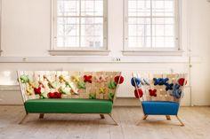 Giant cross stitch furniture