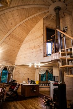 World of Design: Купольные дома будущего Yurt Living, Silo House, Geodesic Dome Homes, Futuristic Home, Dome House, Timber Frame Homes, Round House, Construction, Small Spaces
