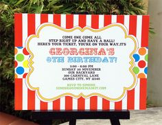 Carnival Party Printables | Circus Party Printables