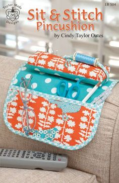 All patterns 15% off by Cindy Taylor Oates The perfect companion for quilting and sewing! Keep everything you need close by in this convenient sewing organizer and pincushion. Hang it over the arm of
