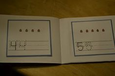 number booklet count and trace